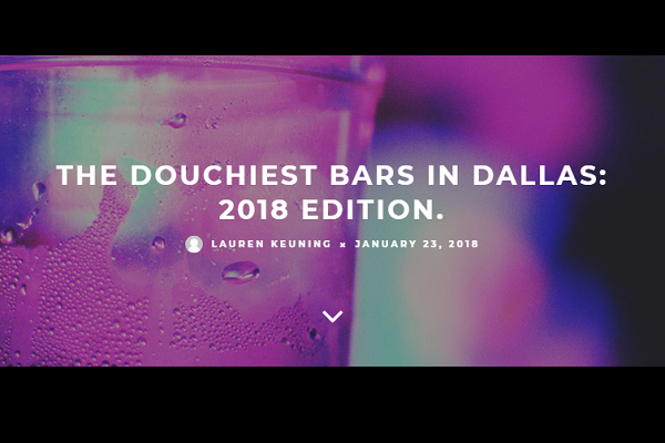 douchiest bars in dallas and fort worth?