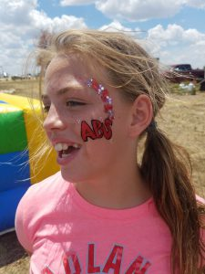 girl anti bullying face paint